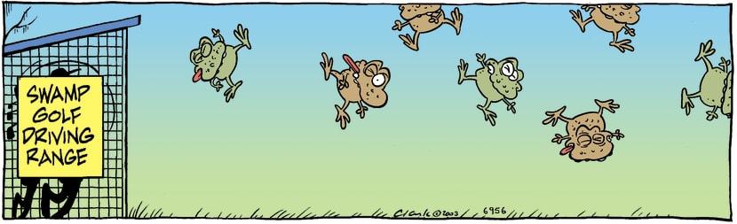 Swamp Cartoon - Swamp GolfDecember 30, 2003