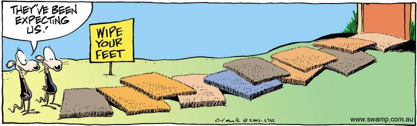 Swamp Cartoon - Door MatJanuary 6, 2004