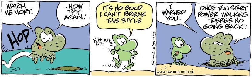 Swamp Cartoon - Style BreakJanuary 9, 2004