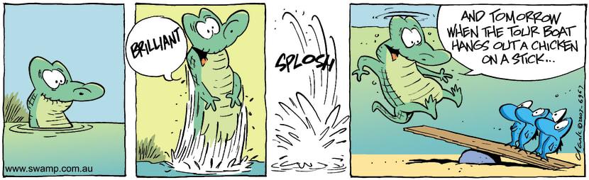 Swamp Cartoon - BrilliantJanuary 12, 2004