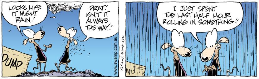 Swamp Cartoon - RainJanuary 16, 2004