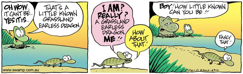 Swamp Cartoon - Grass Dragon 1January 19, 2004