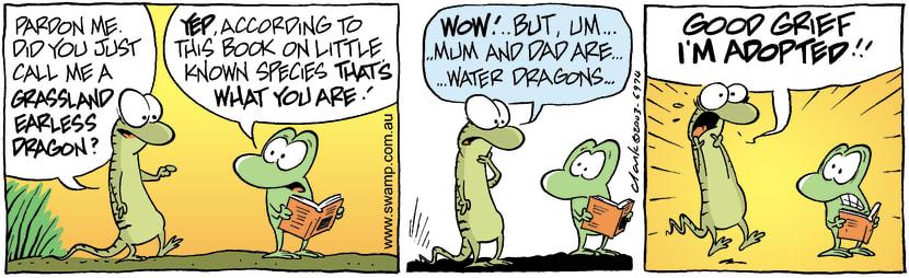 Swamp Cartoon - Grass Dragon 2January 20, 2004