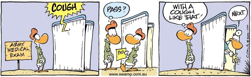 Swamp Cartoon - Medical ExamJanuary 27, 2004