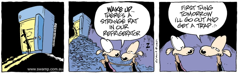 Swamp Cartoon - Rat 2January 30, 2004