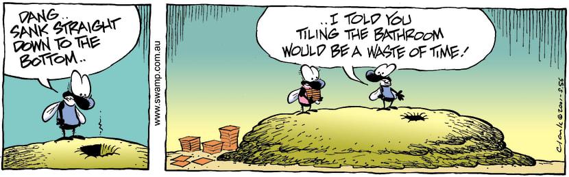 Swamp Cartoon - SinkFebruary 16, 2004