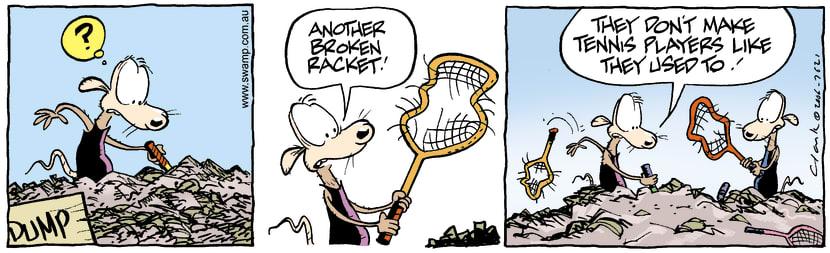 Swamp Cartoon - Cheese & Chives Tennis RacketsJanuary 1, 1990
