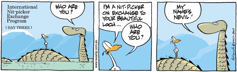 Swamp Cartoon - Nitpicker Bird Loch Ness MonsterMay 11, 2007