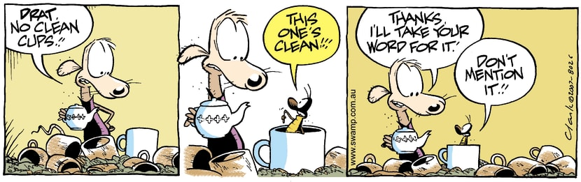 Swamp Cartoon - Chives Rat Clean CupMay 31, 2007