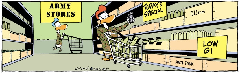 Swamp Cartoon - Shopping listJuly 25, 2007