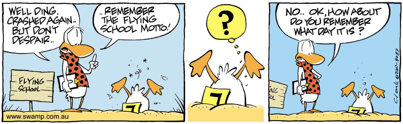 Swamp Cartoon - Flying funAugust 6, 2007