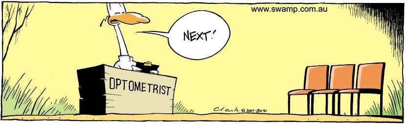 Swamp Cartoon - That is not assuringAugust 15, 2007