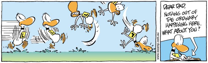 Swamp Cartoon - Up up and awayAugust 16, 2007