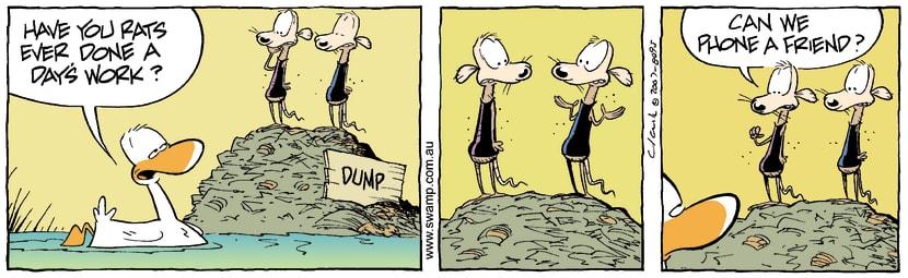 Swamp Cartoon - Hard qeustionsAugust 20, 2007