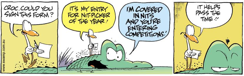 Swamp Cartoon - Nitpicker of the Year 1August 24, 2007