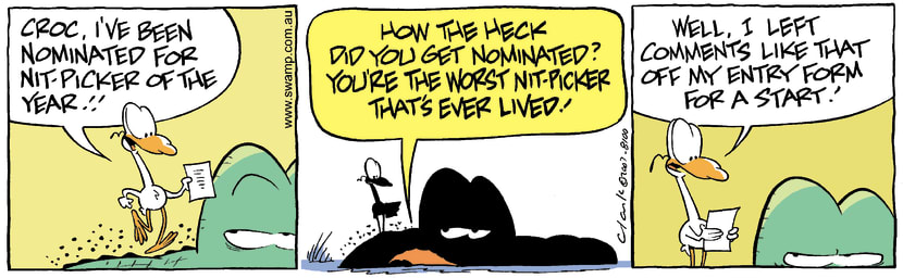 Swamp Cartoon - Nitpicker of the Year 2August 25, 2007