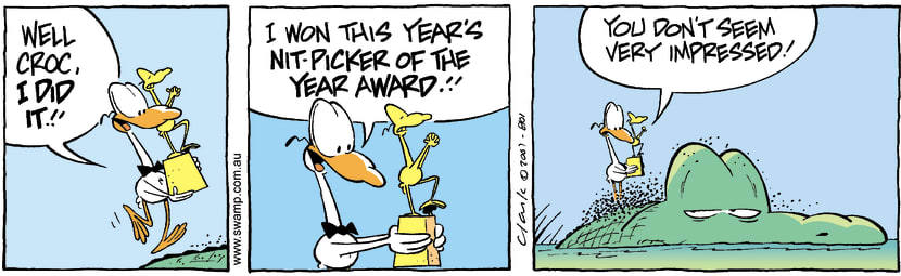 Swamp Cartoon - Nitpicker of the Year 3August 27, 2007