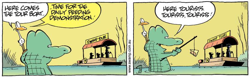 Swamp Cartoon - Wilde life feedingSeptember 15, 2007