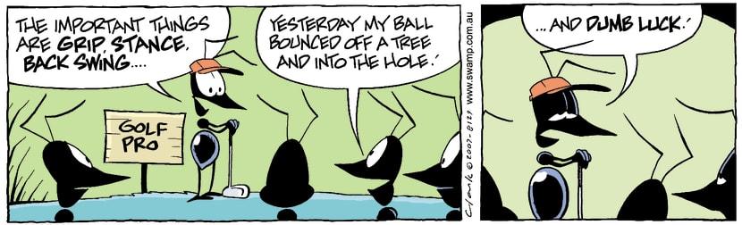 Swamp Cartoon - Golfing fun 1September 28, 2007