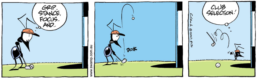 Swamp Cartoon - Golfing fun 2September 29, 2007