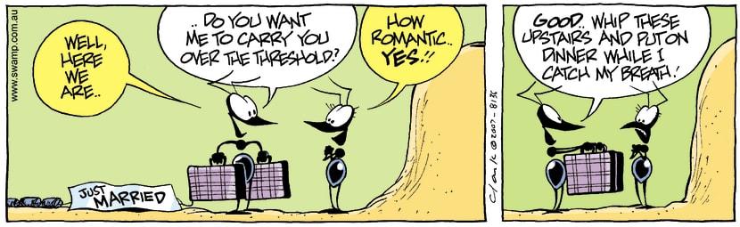 Swamp Cartoon - Happily marriedOctober 6, 2007