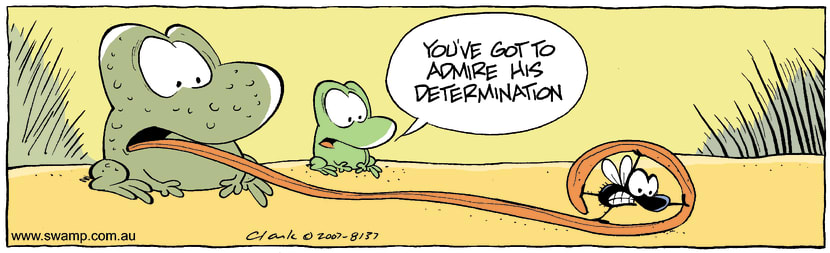 Swamp Cartoon - Difficult MealOctober 8, 2007