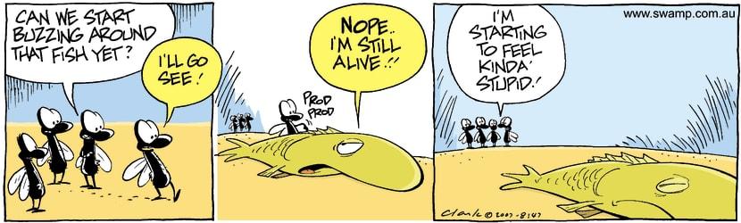 Swamp Cartoon - Fish Trouble 2October 19, 2007