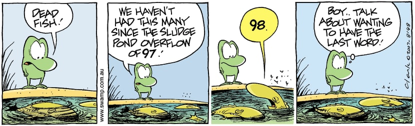 Swamp Cartoon - Fish Trouble 3October 20, 2007