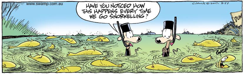 Swamp Cartoon - dead fishOctober 26, 2007