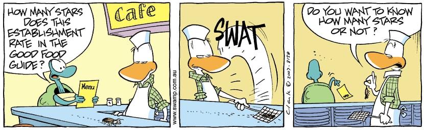 Swamp Cartoon - Swamp Cafe 1November 1, 2007