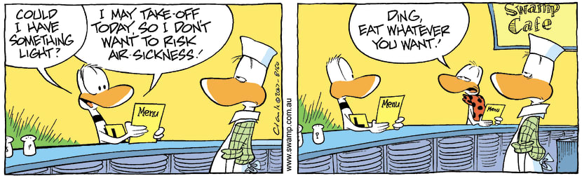 Swamp Cartoon - Ding Duck Light MealNovember 3, 2007