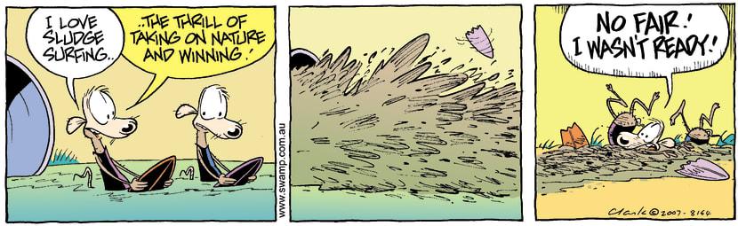 Swamp Cartoon - Surfs Up 1November 8, 2007