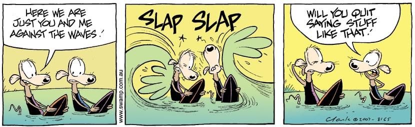 Swamp Cartoon - Surfs Up 2November 9, 2007