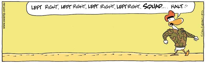 Swamp Cartoon - Marching OrdersNovember 16, 2007