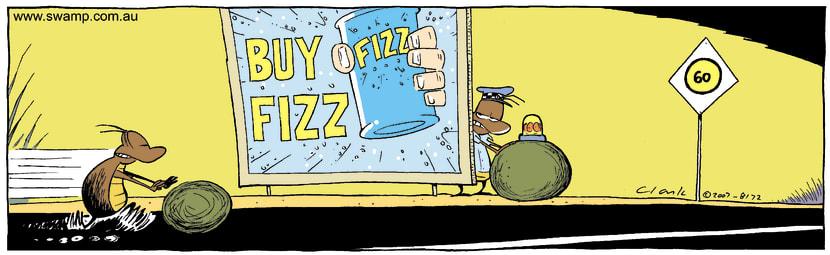 Swamp Cartoon - Caught OutNovember 17, 2007