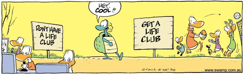 Swamp Cartoon - Gat a life clubNovember 21, 2007