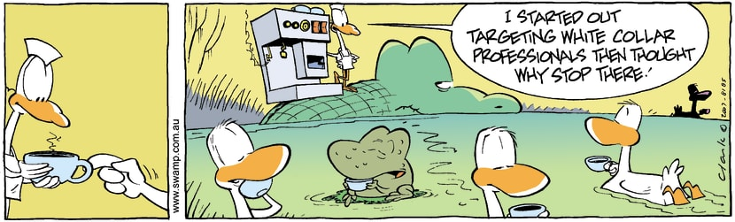 Swamp Cartoon - Coffee Break 3December 3, 2007