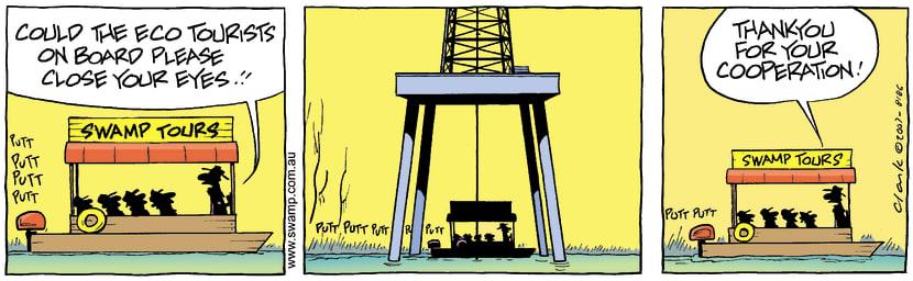 Swamp Cartoon - Oil Strike 1December 4, 2007