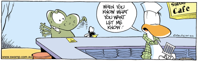 Swamp Cartoon - Main mealDecember 10, 2007