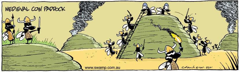 Swamp Cartoon - Medieval Cow Paddock ComicDecember 21, 2007