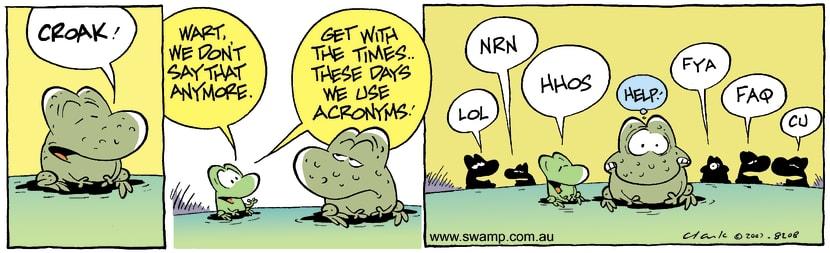 Swamp Cartoon - Get with it MortDecember 29, 2007