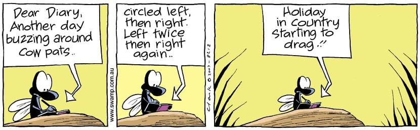 Swamp Cartoon - Diary Fun 1January 2, 2008
