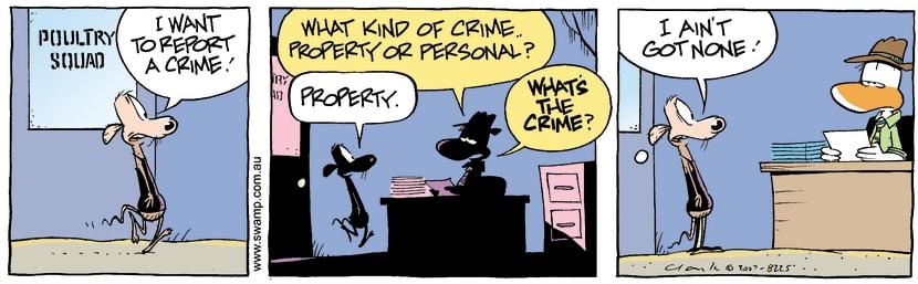 Swamp Cartoon - Report a crimeJanuary 17, 2008