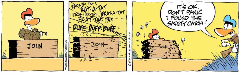 Swamp Cartoon - Safety catchJanuary 21, 2008