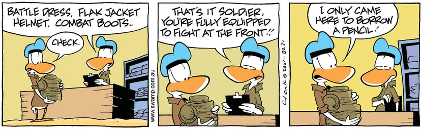 Swamp Cartoon - Wrong MissionJanuary 24, 2008
