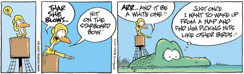 Swamp Cartoon - Thar she blows 1January 25, 2008