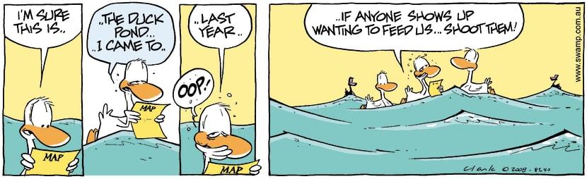Swamp Cartoon - All at Sea 2February 4, 2008