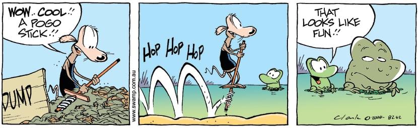 Swamp Cartoon - Hopalong 1February 6, 2008