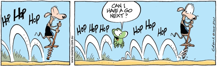 Swamp Cartoon - Hopalong 2February 7, 2008