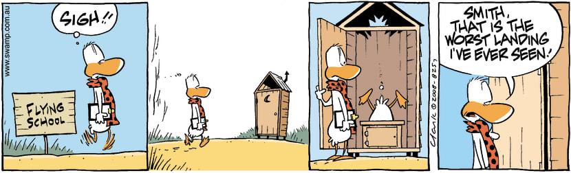 Swamp Cartoon - Splash LandingFebruary 23, 2008